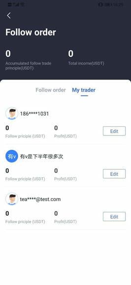 Following Order bitget
